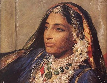 Maharani Jindan Kaur - from the portrait by George Richmond