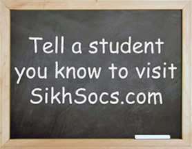 Tell a student you know to visit SikhSocs.com